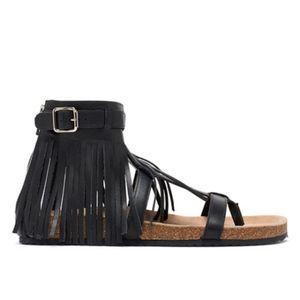 Loeffler Randall Perla Fringe Gladiator Sandals